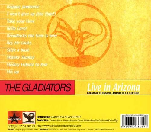 """The Gladiators : CD """" Live In Arizona 1985 """" Sankofa Blackstar Records SB 081 [FR]"""
