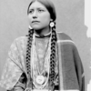 Umatilla Princess Eat-No-Meat in Native Dress with Ornaments - Moorhouse - 1900