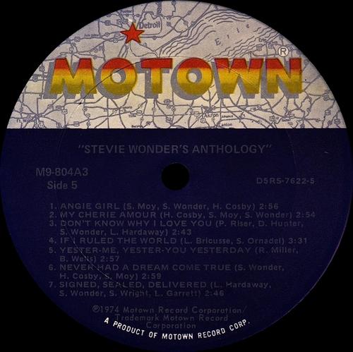 "Stevie Wonder : Album "" Anthology "" Motown Records M9-804A3 [ US ]"
