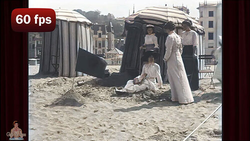 A DAY AT THE BEACH IN NORMANDY 1899 (Documentaires exceptionnels)