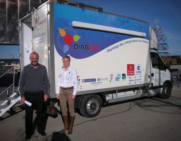 Le camion dépistage du diabète./Photo DDM, MCB.