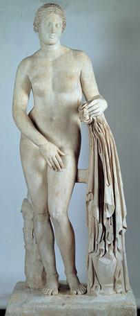 Statue du type de d'Aphrodite de Cnide dite Vénus du Belvédère, Musée Pio Clementino, Vatican