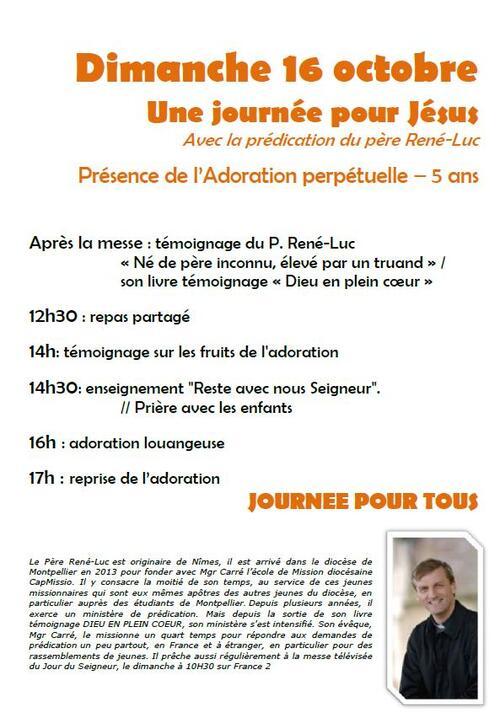 Dimanche 16 octobre J-3 Père Réné Luc