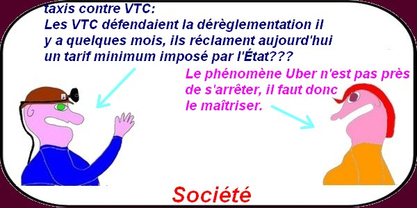 taxis contre VTC