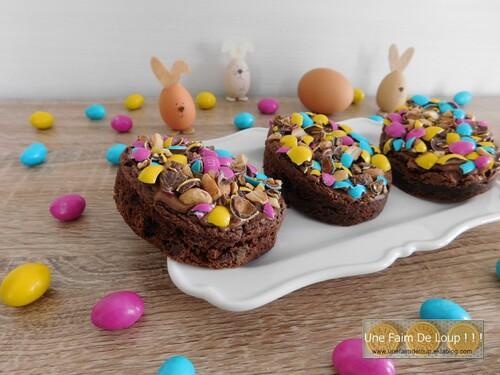 Brownie de Pâques aux m&m's