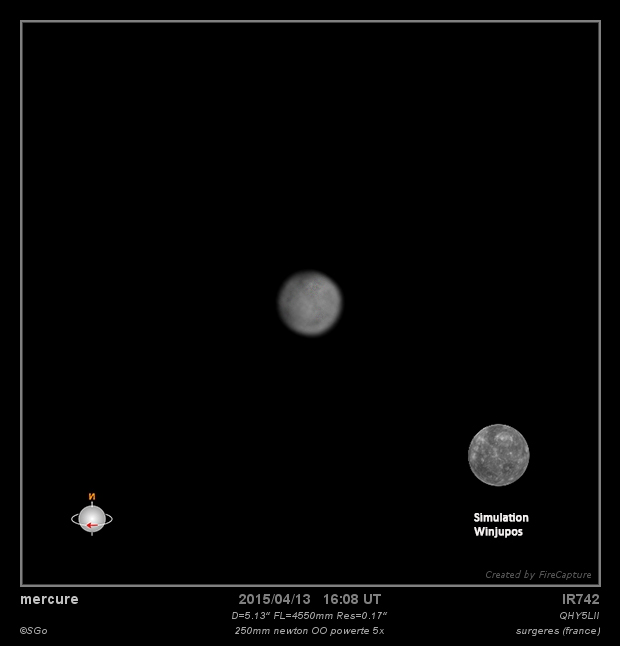 mercure le 13 avril