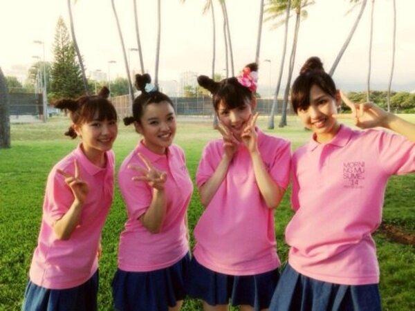 Morning Musume'14 à Hawaï depuis le 20 aout dernier!