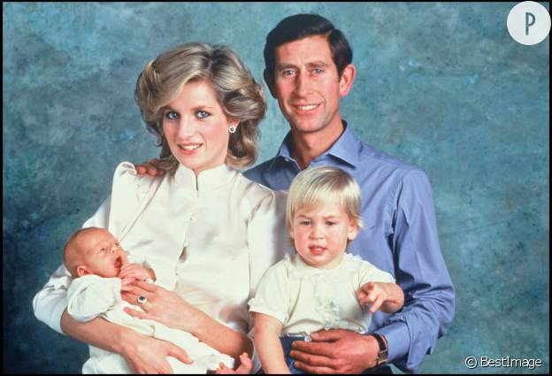 Prince Charles, Lady Di, William et Harry – 1984