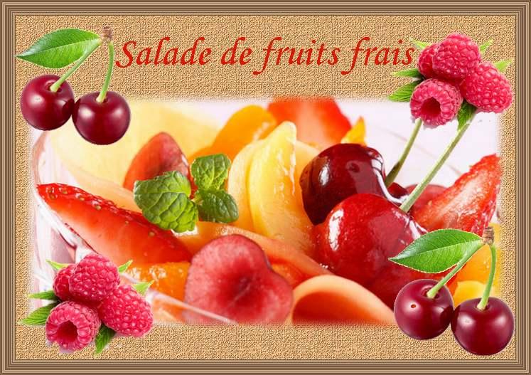 Recette de cuisine : Salade de fruits frais