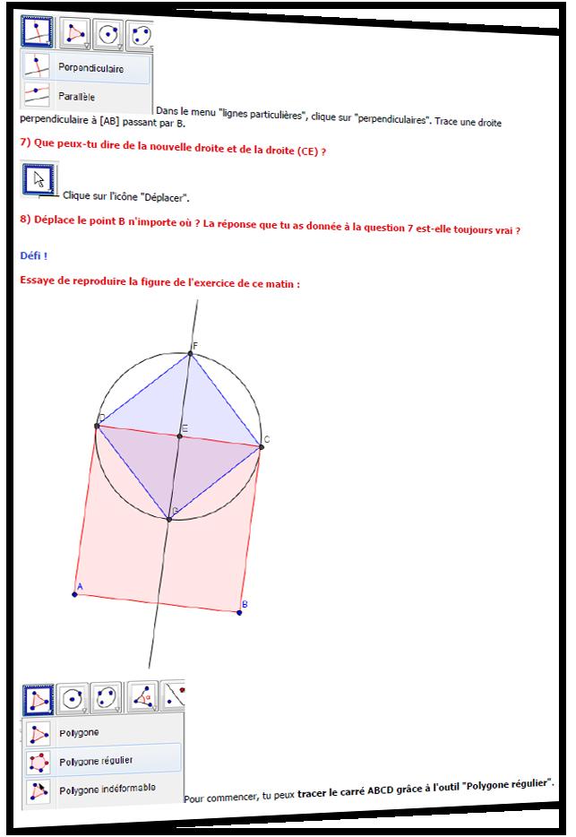 CM2 Séance 1 Geogebra : découverte du logiciel