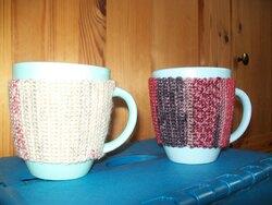 Cache-mugs au crochet