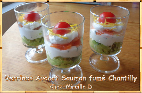 Verrines Avocat Saumon fumé Chantilly
