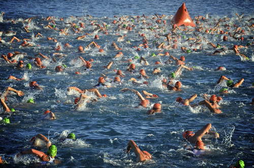 city street open water marathon swimming