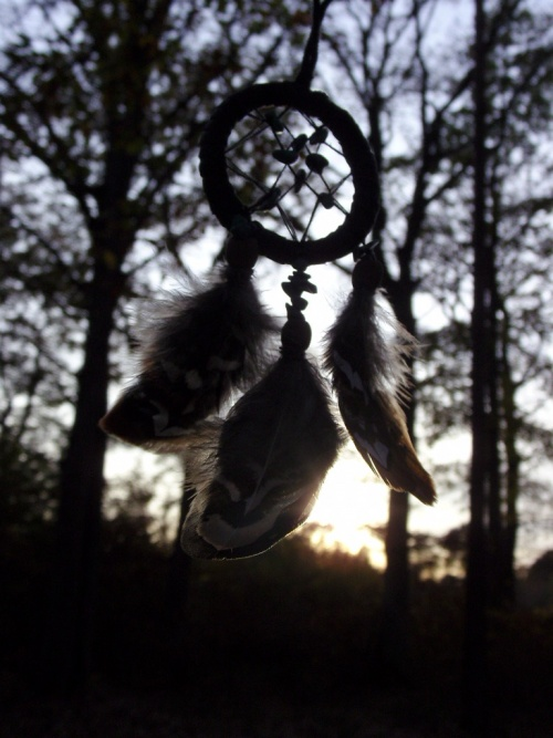 Capteur de rêves et ses pierres semi-précieuses...