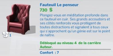 """Carrière """"Auteur"""" niv 4"""