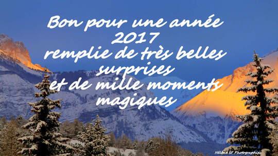 Bonne et heureuse année à toutes et à tous.