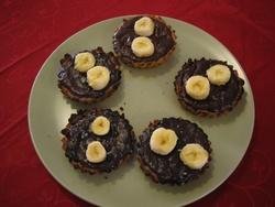 TARTELETTES CHOCOLAT BANANES