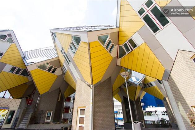 Une maison cubique à Rotterdam, 110 euros