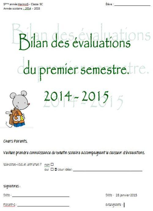 feuilles de bilans semestre