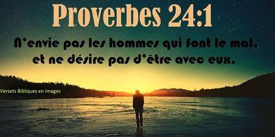Proverbes 24 - Lecture et Prière