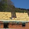 pose des corniches de toit & voliges 003