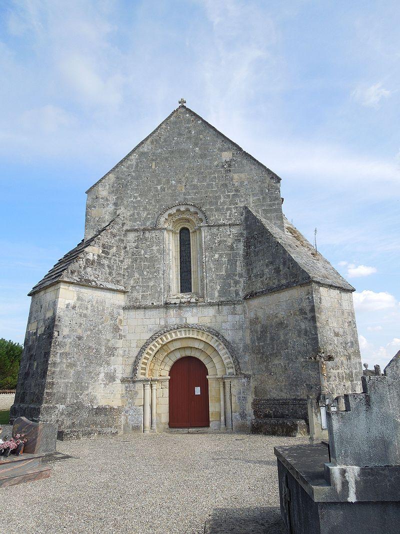 Agudelle, church, west facade.jpg