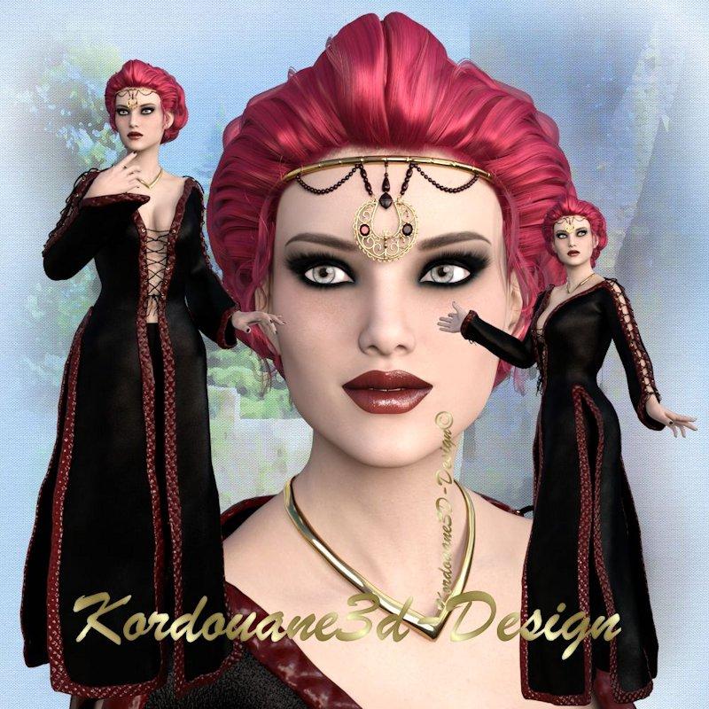 Magdaleine : Tube femme médiévale fantasy