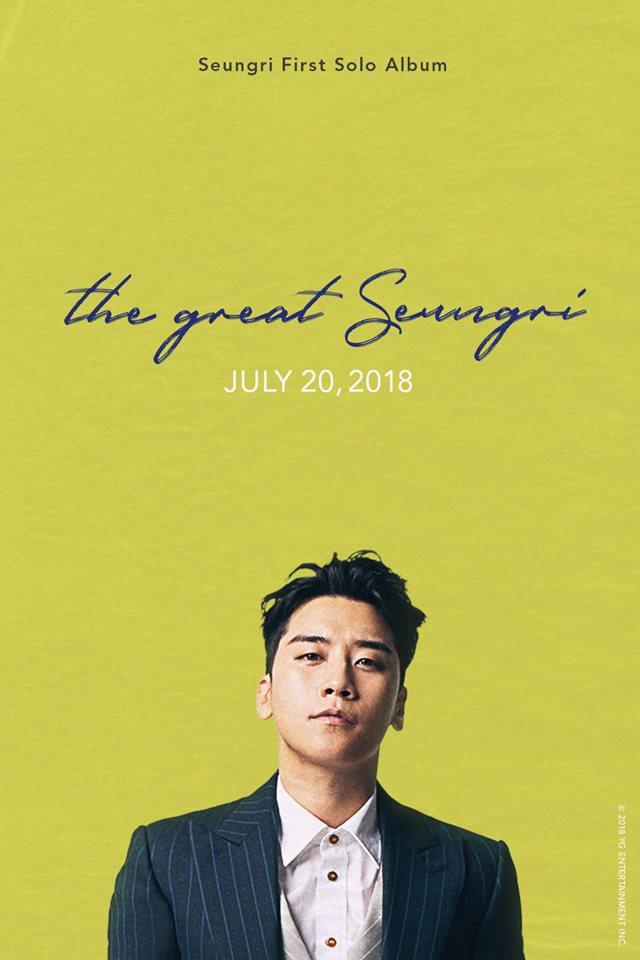 "Seungri lors de la conference de presse ""The Great Seungri"" (07.2018)"
