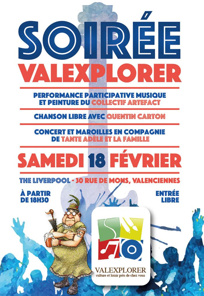 Soirée «Valexplorer», à Valenciennes