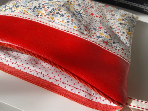 Pochette liberty adeladja multicolore simili rouge 2