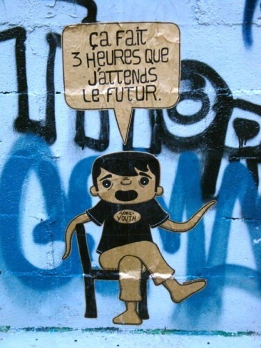 street-art Montmartre message future 1