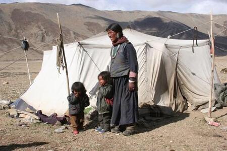 visite chez des nomades ladakhis;