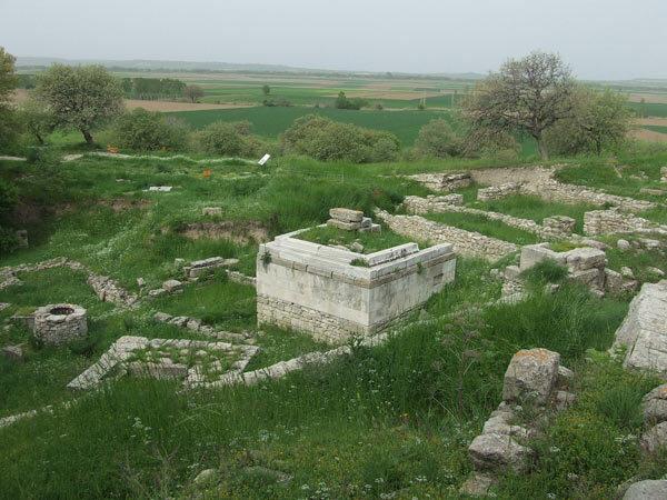 Vestiges de la cité de Troie