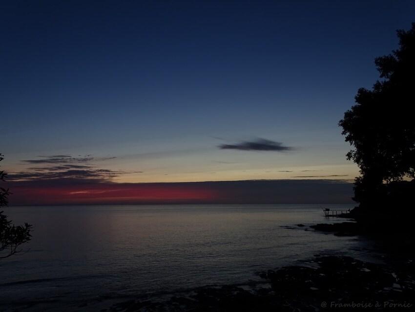 Coucher de soleil sur Pornic -  6.12.2016