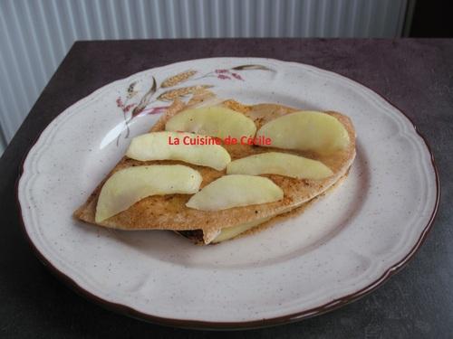Mille feuilles aux pommes et Boudin Blanc