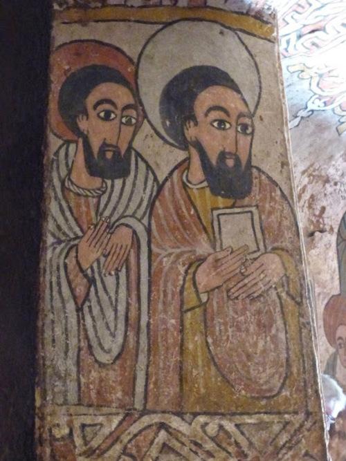 l'église crypte de Enda Aboun Yemata (Guh); les peintures intérieures;suite