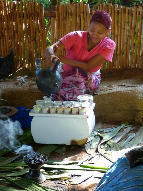 la cérémonie du café, une belle tradition;
