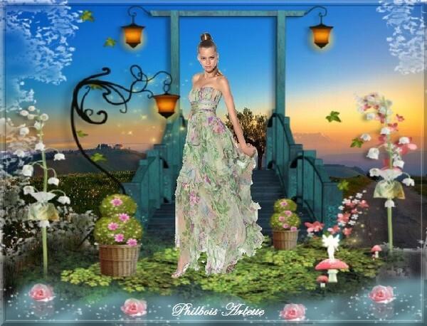 La belle au jardin des fleurs