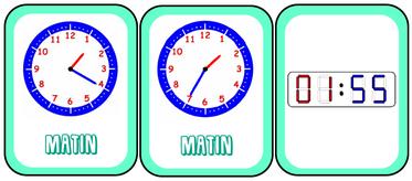 Time's up : lecture de l'heure