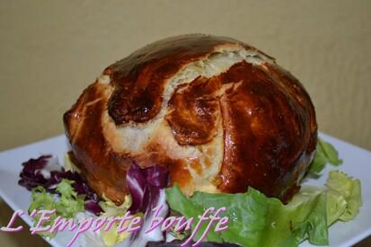 Camembert en croûte façon tartiflette