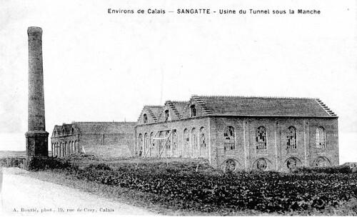 L'usine du tunnel sous la Manche construite en 1878
