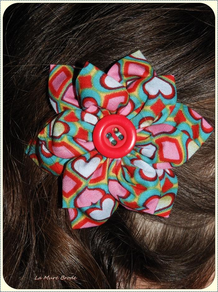 coeur ,,, barrette à cheveux ,,,