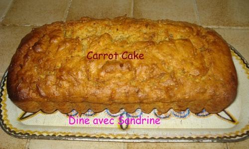 Le Carrot Cake ou Cake à la Carotte