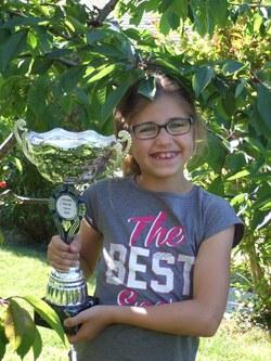 photos avec le trophée