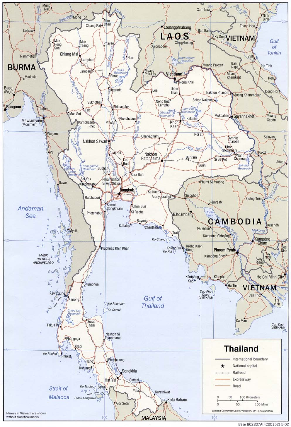 map thailande