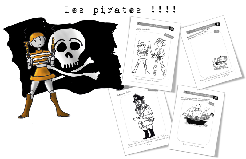 Coriages -anticoloriages : les pirates