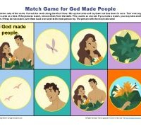 Bible Matching Game for Kids - God Made People