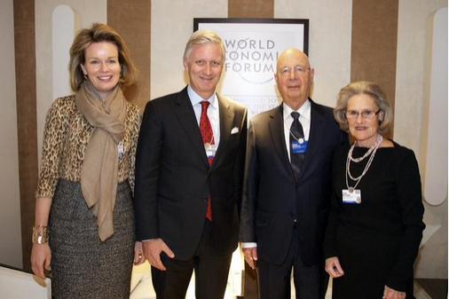 Philippe et Mathilde à Davos