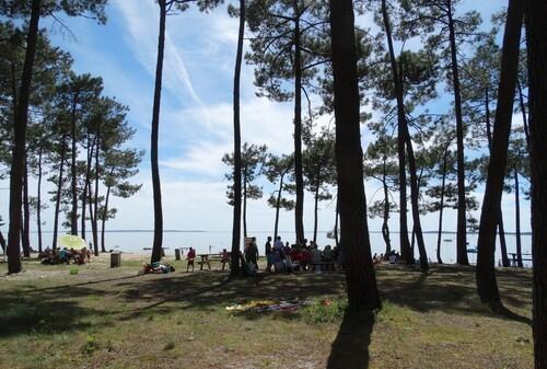 La plage de l'Aérium à Arès...