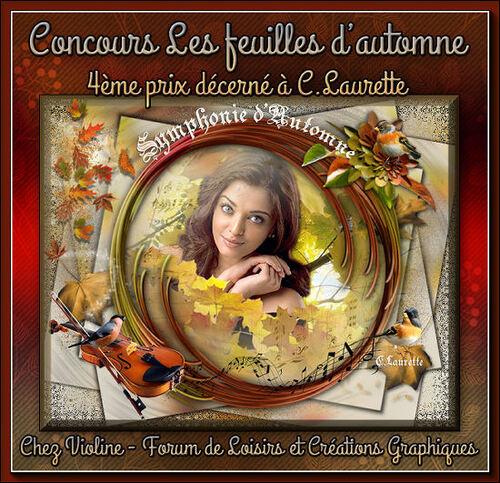 Concours feuilles d'automne chez violine